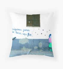 Spanish Street Art Throw Pillow