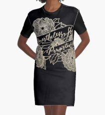 Nevertheless, she persisted Gold II Graphic T-Shirt Dress