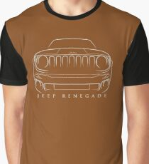 Jeep Renegade BU - Front Stencil, white Graphic T-Shirt