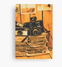 Vintage photography stack Canvas Print