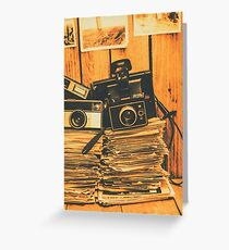 Vintage photography stack Greeting Card