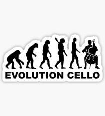Evolution Cello Sticker