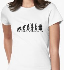 Evolution Cello Women's Fitted T-Shirt
