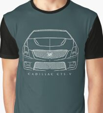 Cadillac CTS-V - Front Stencil, white Graphic T-Shirt