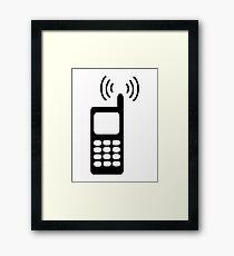 Cell phone Framed Print