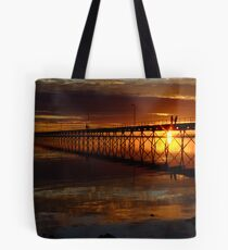 Ceduna Wharf at Sunset Tote Bag