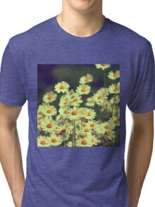 Summer field with white daisy  Tri-blend T-Shirt