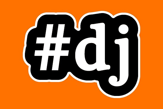 DJ - Hashtag - Black & White by graphix