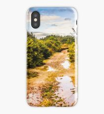 Puddles and outback tracks iPhone Case/Skin