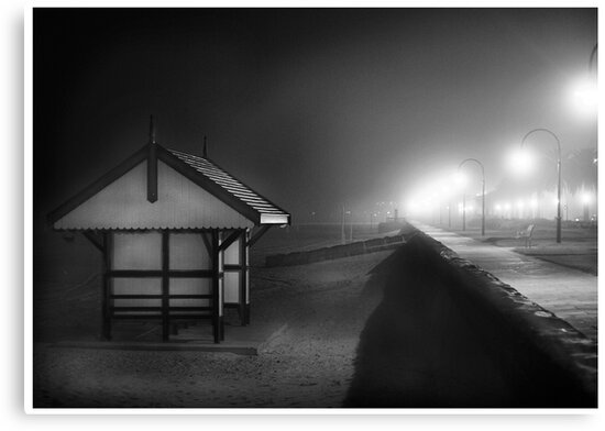 Black & white shed Albert Park by Melinda Kerr