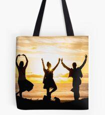 Sunset Yoga Tote Bag