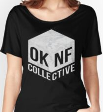 OKNF (White Marble) Women's Relaxed Fit T-Shirt