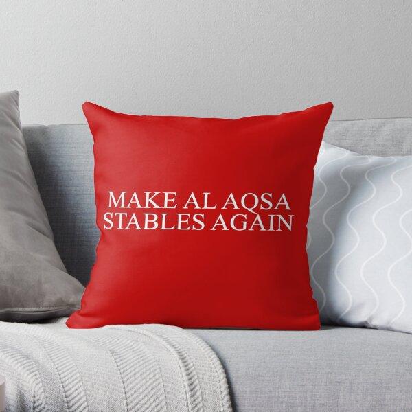 Make Al Aqsa Stables Again Throw Pillow