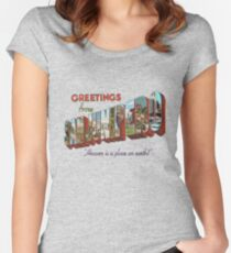Greeting From Sanjunipero Women's Fitted Scoop T-Shirt