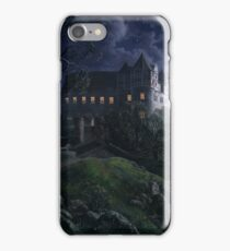Burg Scharfenberg at Night  by Ernst Ferdinand Oehme iPhone Case/Skin