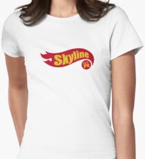 Skyline hot wheels Womens Fitted T-Shirt