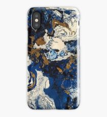 Fluid Blue and Gold iPhone Case/Skin