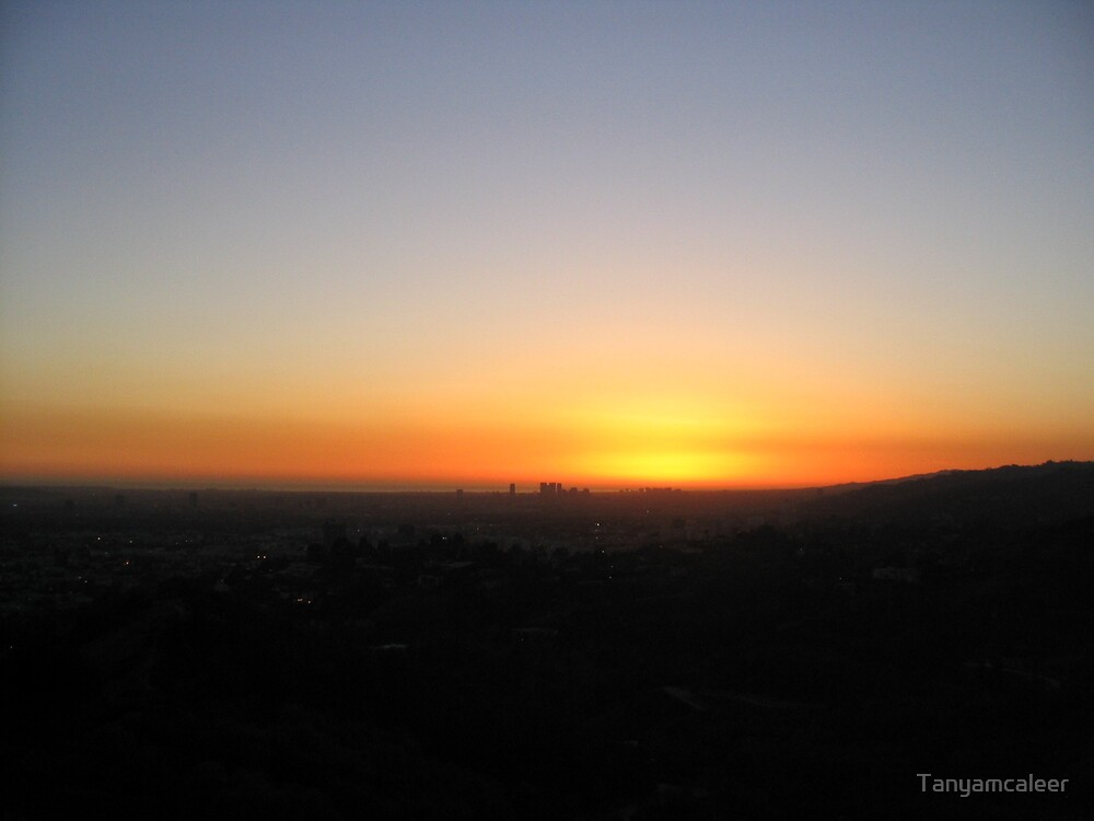 Los Angeles Downtown Sunset, U.S.A by Tanyamcaleer