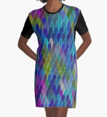 Abstract Colourful Bright Simple Design Graphic T-Shirt Dress