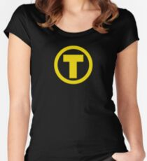 Teen Titans Terra Symbol Women's Fitted Scoop T-Shirt