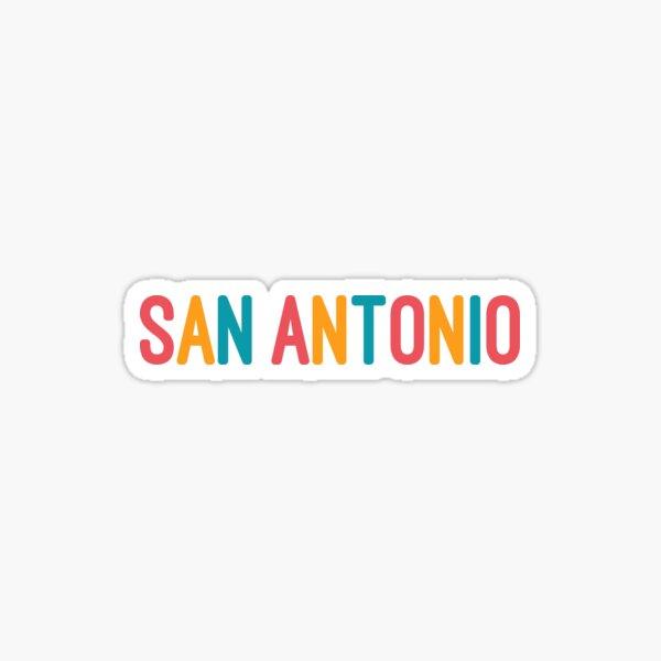 San Antonio - fiesta colors Sticker