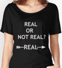 Hunger Games Real or Not Real Women's Relaxed Fit T-Shirt