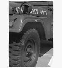 WW2 US Jeep Poster