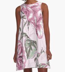 Gorgeous Pastel Lavender Shabby Chic Roses A-Line Dress