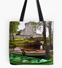 Boats at Ross Castle, Killarney, Ireland Tote Bag