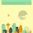 SEATTLE SKYLINE by JazzberryBlue