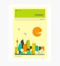 SYDNEY TRAVEL POSTER Art Print