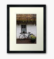 Old Bicycle at Bunratty Folk Park, Ireland Framed Print