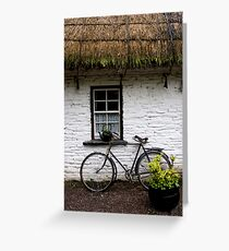 Old Bicycle at Bunratty Folk Park, Ireland Greeting Card
