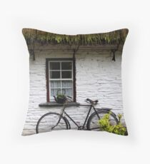 Old Bicycle at Bunratty Folk Park, Ireland Throw Pillow
