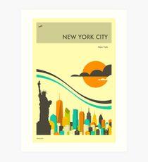 NEW YORK TRAVEL POSTER Art Print