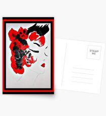 Funky Geisha Girl Postcards