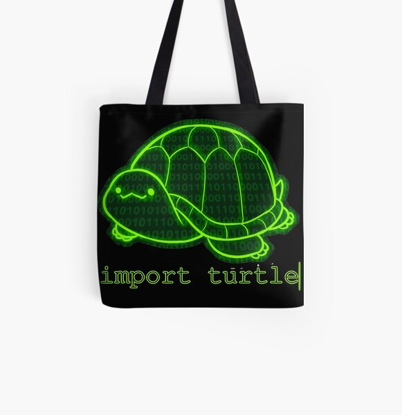 import turtle| All Over Print Tote Bag