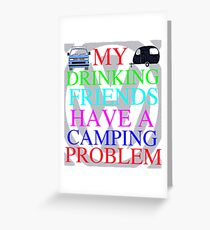 VW T25 camping Problems Greeting Card