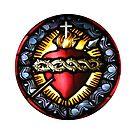 Stain Glass Sacred Heart 2 by BadBehaviour