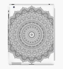 Floral Mandala in Black Intricate Fine Art iPad Case/Skin