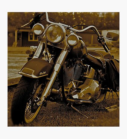 My Harley - Davidson   -  Road to Hell . Brown Sugar Story.  Views 3167 .thank you ! Hold Your Memories. Buy what you like! Photographic Print