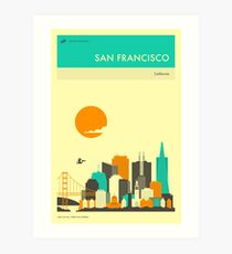 SAN FRANCISCO TRAVEL POSTER Art Print