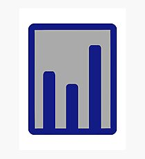 Chart statistics icon Photographic Print