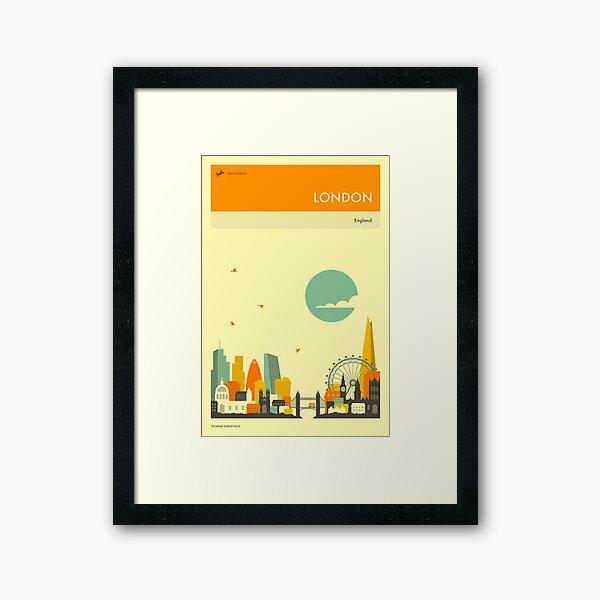 LONDON TRAVEL POSTER Framed Art Print