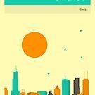 CHICAGO SKYLINE by JazzberryBlue