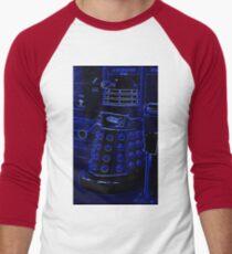 Neon Blue Dalek Men's Baseball ¾ T-Shirt