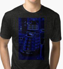 Neon Blue Dalek Tri-blend T-Shirt