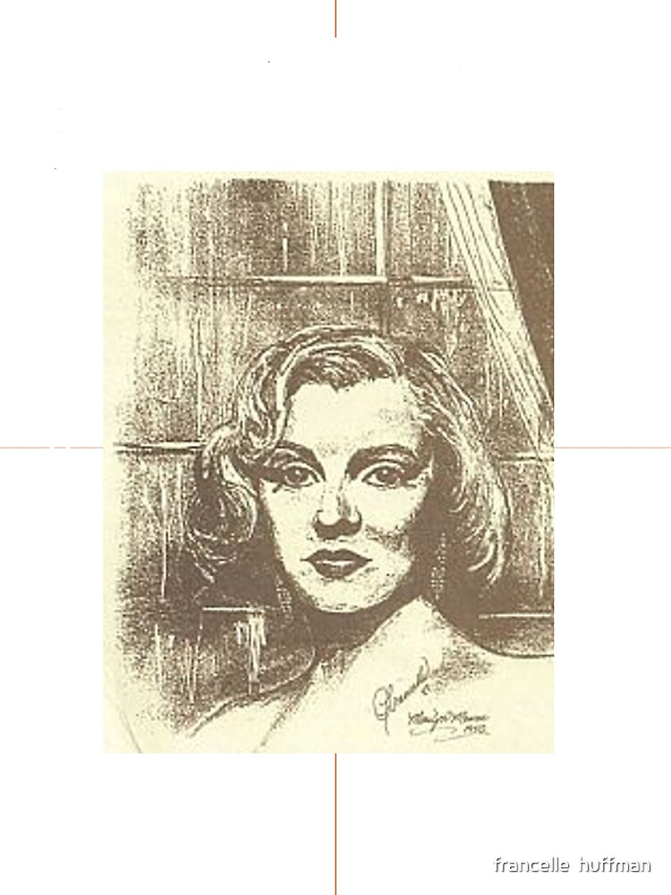MARILYN MONROE ON A RAINY DAY by francelle  huffman