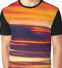 Beautiful Red And Orange Summer Sunset Sky Graphic T-Shirt