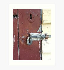 Dunny Latch Art Print & Dunny Door: Gifts \u0026 Merchandise | Redbubble